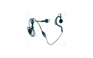 Micro-Auricular Orejera. Cable negro liso. Bot�n PTT